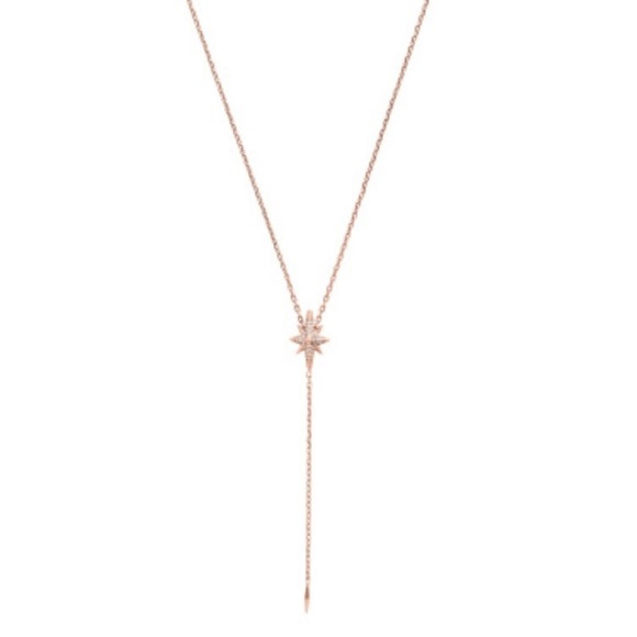 f2300dbca7344 LAST 1 ⭐ MK rose gold tone Starburst necklace